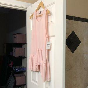 Blush pink chiffon sleeveless top